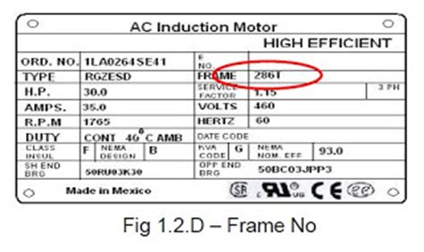 Electric Motor Sizes by Power Systems Loss Electric Motor Frame Size Standard
