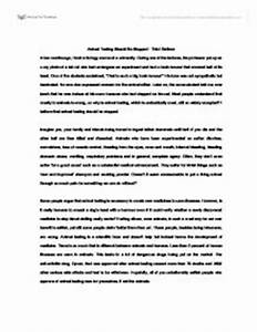 Argumentative Essay On Animal Testing George Mason Essay Prompt  Argumentative Essay Animal Testing Pros And Cons Argumentative Essay Thesis Examples also Health And Social Care Essays  Statistic Help