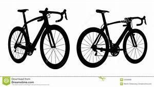 Road Racing Bike Silhouette 2in1 B Stock Illustration ...