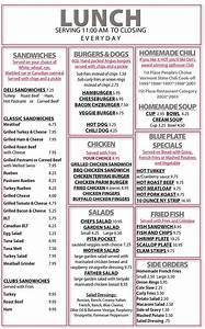 Restaurant Lalique Menus : lunch menu dot 39 s restaurant wilminton vt ~ Zukunftsfamilie.com Idées de Décoration