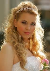 Up Half Down Wedding Hairstyles Long Hair