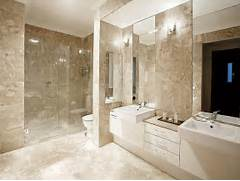 Bathroom Ideas by Modern Bathroom Design With Twin Basins Using Frameless Glass Bathroom Phot