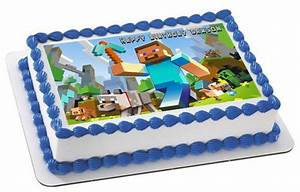 MINECRAFT Characters 1 Edible Birthday Cake Topper