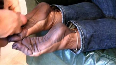Fully Fashioned Stocking Foot Tease And Foot Job With