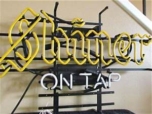 Shiner Bock Beer Logo ON TAP Neon Light Promotional Bar