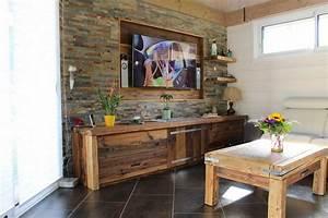 le vieux bois quand la poutre se fait meuble With meuble salle de bain vieux bois