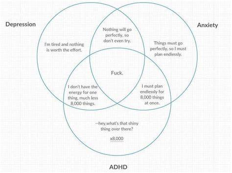 Diagram Of Adhd by Adhd Depression Anxiety Venn Diagram Counselling