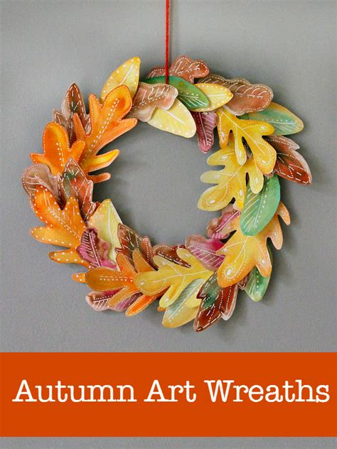 10 Beautiful Homemade Fall Wreath Art Projects