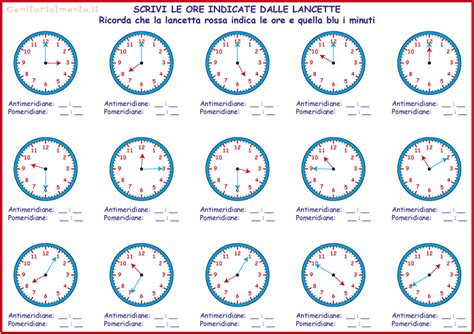 orologio schede didattiche scuola primaria jf55 187 regardsdefemmes