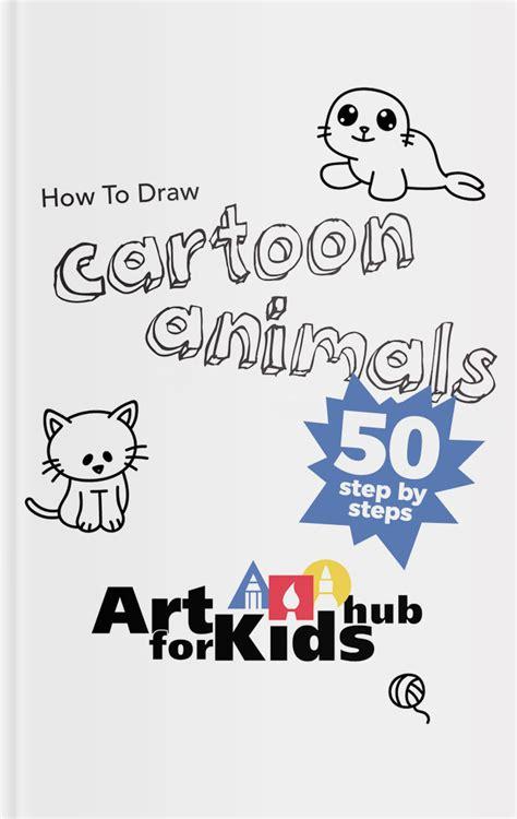draw cartoon animals art  kids hub
