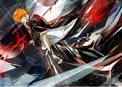 Ichigo Bleach Kurosaki Anime Wallpapers Tensa Bankai