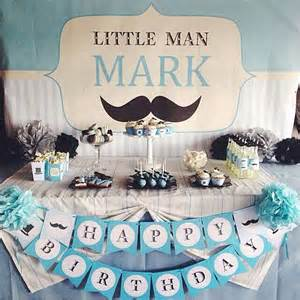 gentleman baby shower mustaches birthday party ideas photo 1 of 3