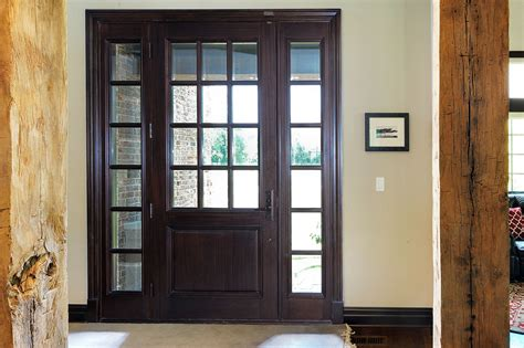 custom wood front entry doors interior view of solid
