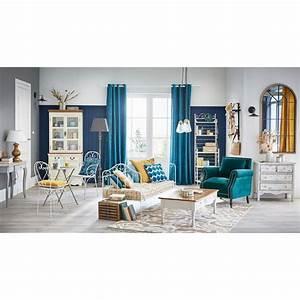 Fauteuil En Velours : fauteuil en velours bleu canard baudelaire maisons du monde ~ Dode.kayakingforconservation.com Idées de Décoration