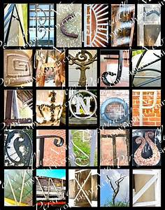 photo alphabet letter art print inadvertent letters With letter photo art prints