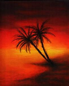 Oil Pastel Palm Tree scene | paintings | Pinterest | Trees ...