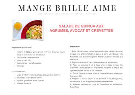 fiche recette imprimable salade quinoa agrumes mange brille aime