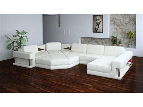 Living Room Comfortable White Sectional Sofa For Elegant