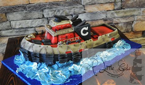 Tugboat Cake by Tugboat Themed Grooms Cake A Little Cake