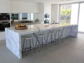 Marble Island Kitchen Beautiful Calacatta Marble For Interior Design Attractive Waterfall Calacatta Marble