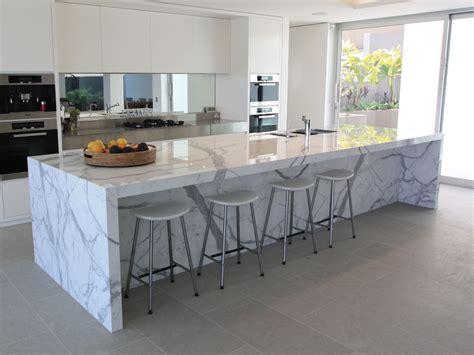white marble kitchen island beautiful calacatta marble for interior design attractive