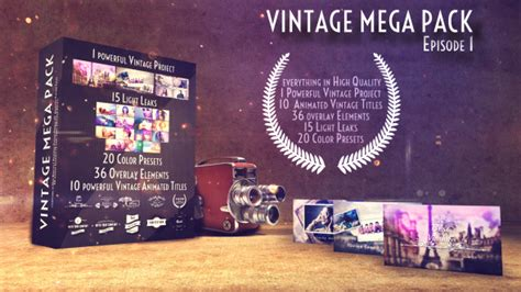 After Effects Falling Retro Pictures Template Mega by Vintage Mega Pack Episode 1 By Daveginos Videohive