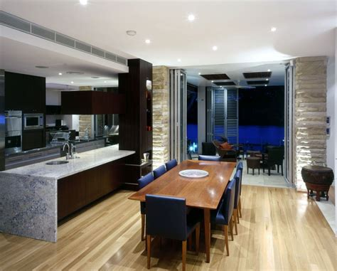 Modern Kitchen And Dining Space Combination