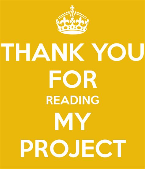 thank you for reading my project poster bob keep calm