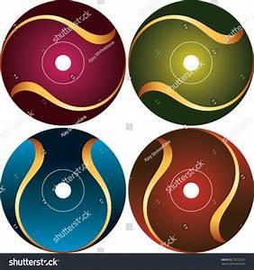cd dvd label design template stock vector 29223247 With design cd label online