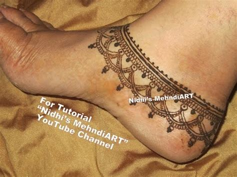 unique anklet payal ornament jewellery inspired henna