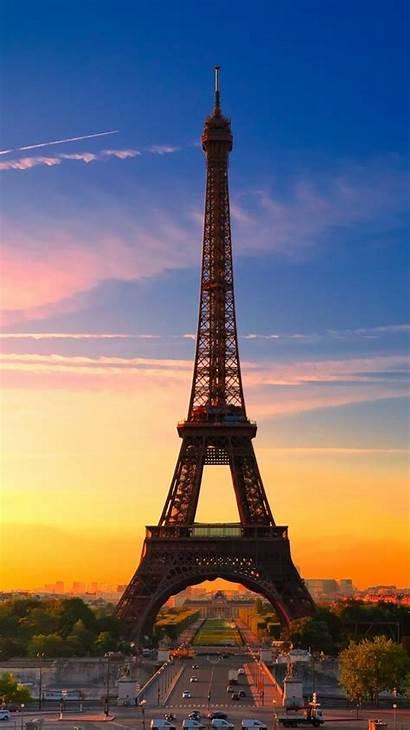 Paris Tower Eiffel Sunset Iphone Wallpapers Under
