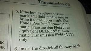 Non-honda Automatic Transmission Fluid    - Page 2
