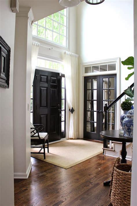 front door curtains 5 ways to make small doors feel bigger tidbits twine