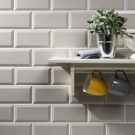 metro light grey wall tile 10x20cm kitchen pinterest