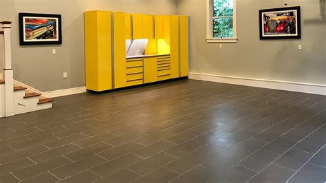 tile flooring for garage porcelain tile the ideal surface for garage flooring vault custom garages