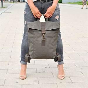 Laptoptasche Selber Nähen : rucks cke khaki canvas segeltuch rucksack mit leder gro ~ Kayakingforconservation.com Haus und Dekorationen