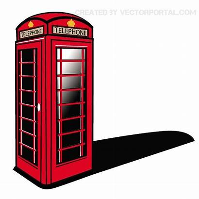 Booth Telephone Clipart London Phone Clip Vector
