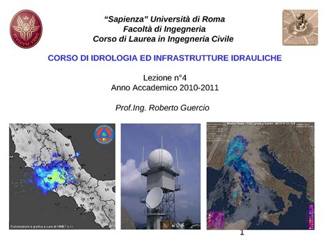 idrologia dispense precipitazioni distribuzione spaziale dispense