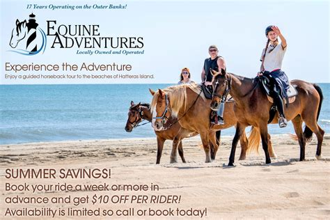 adventures horseback equine riding outer banks outerbanks beach driving