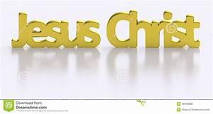 Golden Jesus Christ Word Letters Stock Illustration ...
