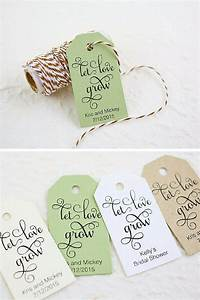 let love grow tag wedding favor seed bomb bridal shower With let love grow wedding favors