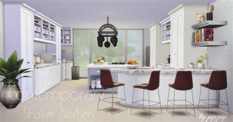 sims  blog contemporary shaker kitchen set  pyszny