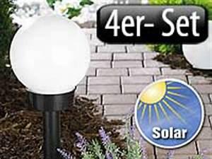 Leuchtkugeln Garten Solar : lunartec led solar kugellampe 4er set gro refurbished ~ Sanjose-hotels-ca.com Haus und Dekorationen