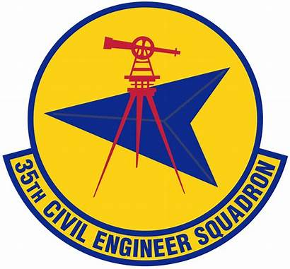 Squadron Civil 35th Engineer Patch Ces Misawa