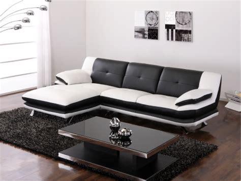 canapé noir et blanc pas cher canape d angle noir et blanc pas cher 28 images canap