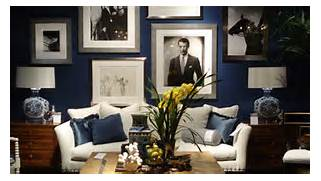 Navy Blue Interior Design Idea Design Navy Blue Living Room Decorating Navy Living Room Ideas Navy