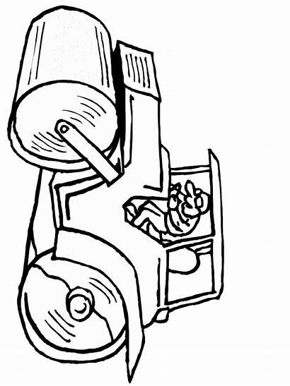 Coloring Pages Construction Equipment Clipart Steamroller