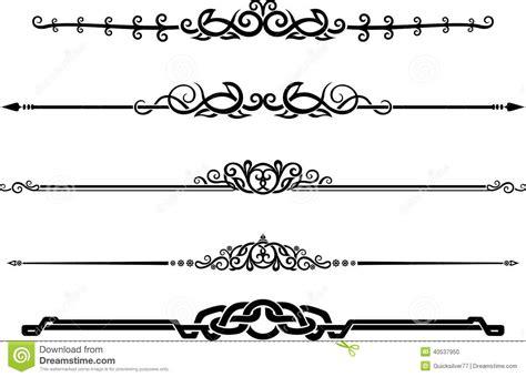ornamental decor page rule set stock illustration image