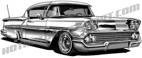 1958 Chevrolet Impala Lowrider Clip Art, High Quality, Buy