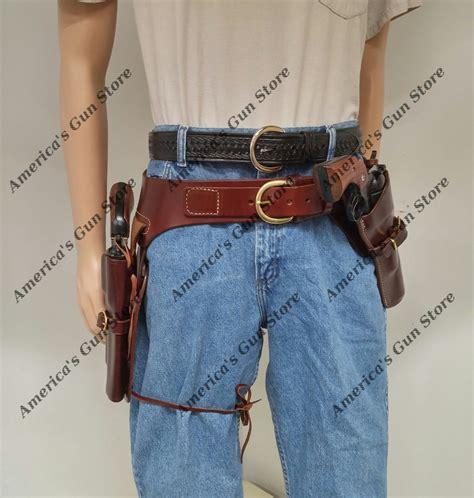 cheyenne western holster keegan crossdraw holster  wyoming western drop belt rig  colt